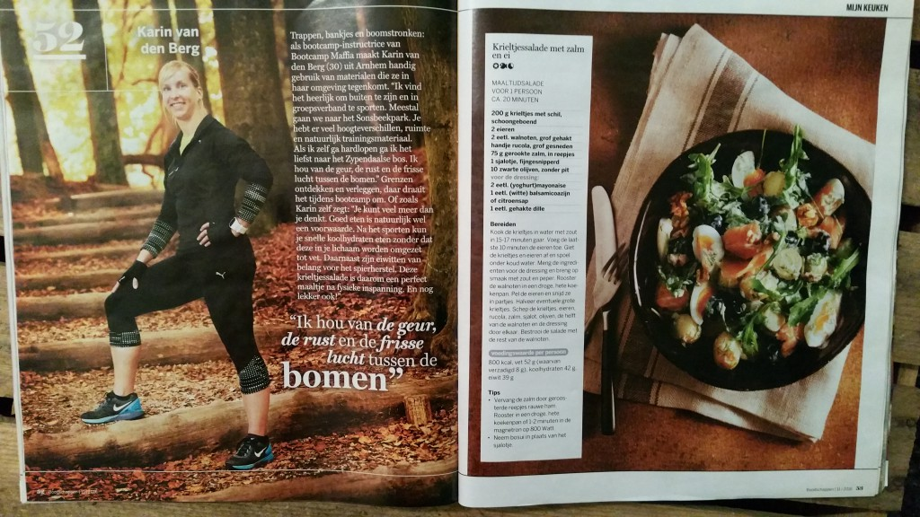 Article in the 'Boodschappen'-magazine from the supermarket